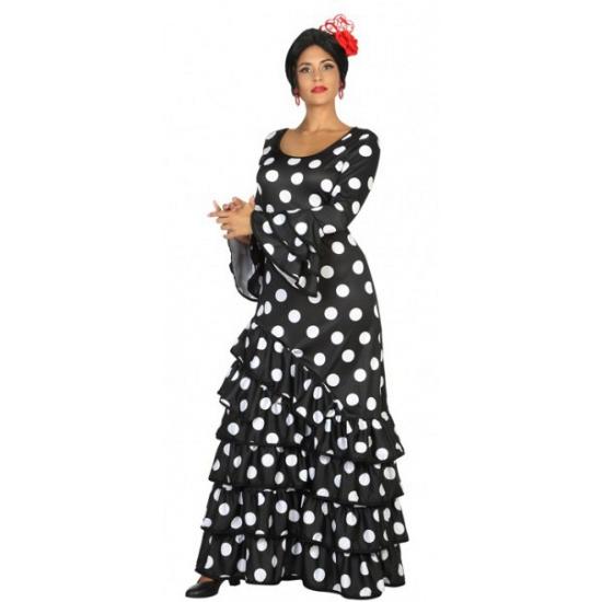 1d1bfe63b1a2ac Zwarte Flamenco verkleedjurk voor dames
